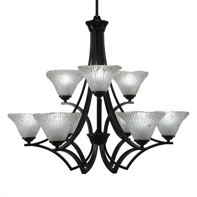 Bedolla 9-Light Shaded Chandelier Finish: Matte Black