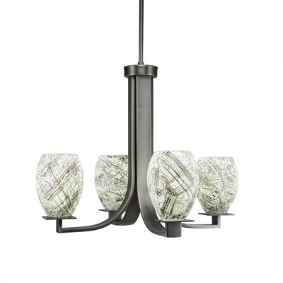 Besaw 4-Light Shaded Chandelier Finish: Graphite