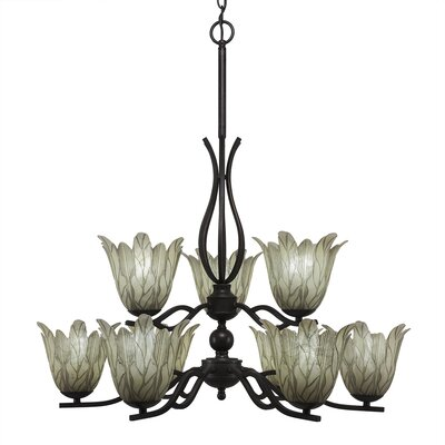Revo 9-Light Shaded Chandelier