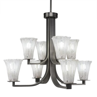Apollo 8-Light Shaded Chandelier Finish: Graphite
