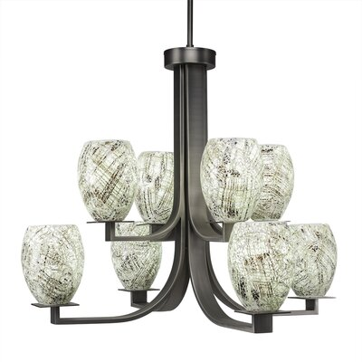 Besaw 8-Light Shaded Chandelier Finish: Graphite