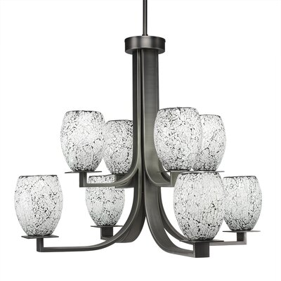 Besaw 8-Light Graphite Shaded Chandelier