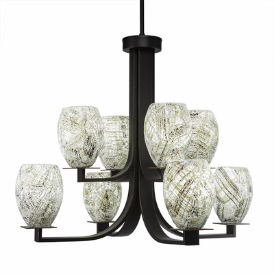 Besaw 8-Light Shaded Chandelier Finish: Dark Granite