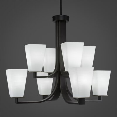 Apollo 8-Light Shaded Chandelier Finish: Dark Granite