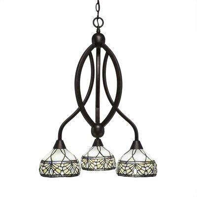 Austinburg 3-Light Dimmable Shaded Chandelier Color: Bronze