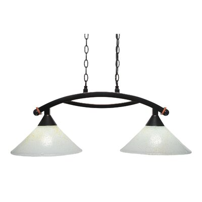 Blankenship 2-Light 100W Black Copper Kitchen Island Pendant