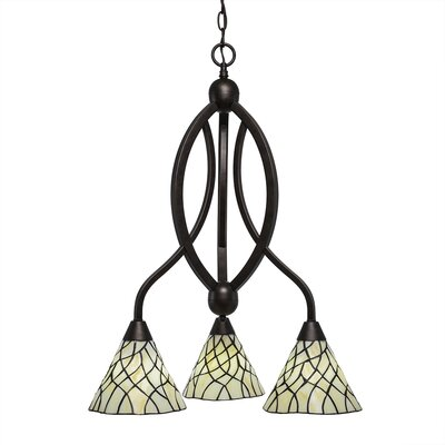 Austinburg 3-Light 100W Shaded Chandelier Color: Bronze