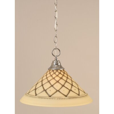 1-Light Bowl Pendant Finish: Chrome