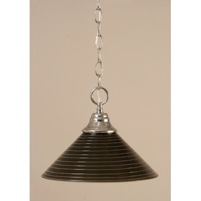 1-Light Bowl Pendant Finish: Chrome, Size: 12 W