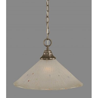 1-Light Bowl Pendant Finish: Brushed Nickel, Size: 12 W