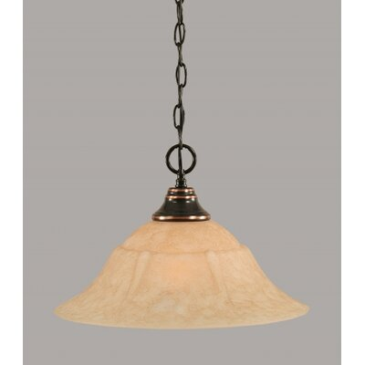 1-Light Bowl Pendant Finish: Black Copper