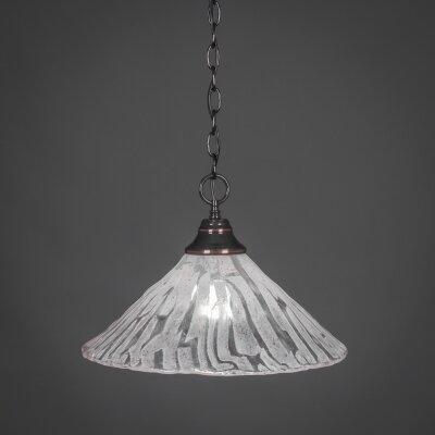 1-Light Bowl Pendant Finish: Black Copper, Size: 16 W