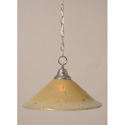 1-Light Bowl Pendant Finish: Chrome, Size: 12 W