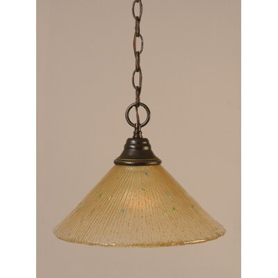 1-Light Bowl Pendant Finish: Dark Granite, Size: 12 W