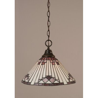 1-Light Bowl Pendant Finish: Dark Granite