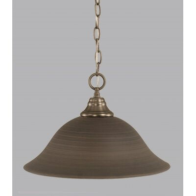 1-Light Bowl Pendant Size: 16 W