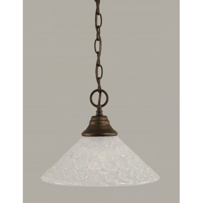 1-Light Bowl Pendant Finish: Bronze, Size: 12 W