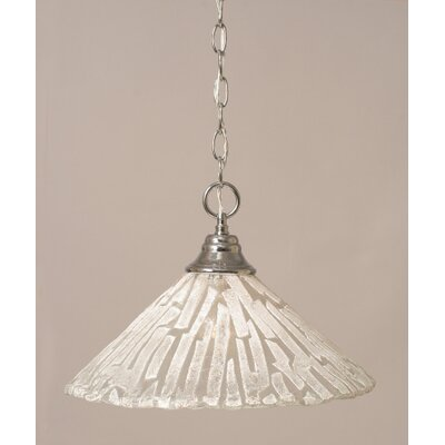 1-Light Bowl Pendant Finish: Chrome, Size: 16 W