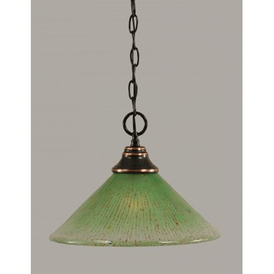1-Light Bowl Pendant Finish: Black Copper, Size: 16 W