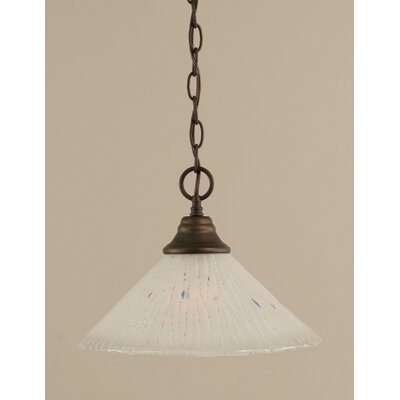 1-Light Bowl Pendant Finish: Bronze, Size: 16 W