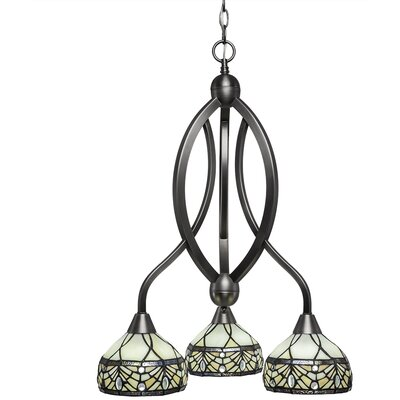 Austinburg 3-Light Dimmable Shaded Chandelier Finish: Brushed Nickel