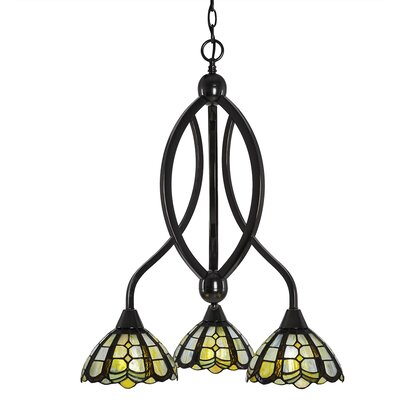 Austinburg 3-Light  Adjustable Height Shaded Chandelier Finish: Black Copper