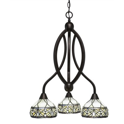 Bow 3-Light Shaded Chandelier Finish: Bronze