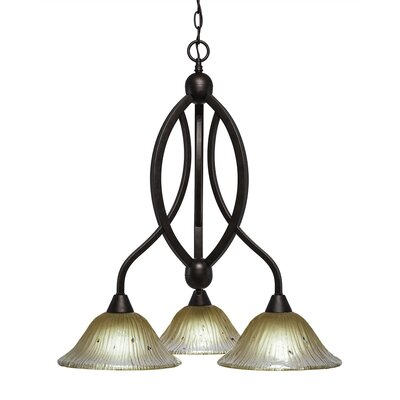Blankenship 3-Light 100W Bronze Shaded Chandelier