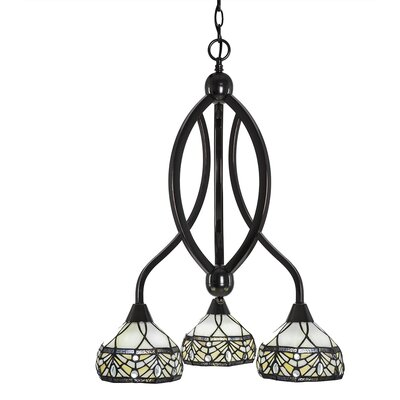 Austinburg 3-Light Dimmable Shaded Chandelier Color: Black Copper