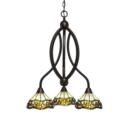 Austinburg 3-Light Shaded Chandelier Color: Bronze