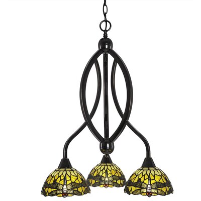 Quinn 3-Light Shaded Chandelier Finish: Black Copper
