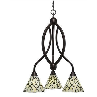 Austinburg 3-Light 100W Shaded Chandelier Finish: Bronze