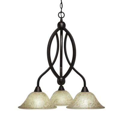 Blankenship 3-Light Adjustable Height Shaded Chandelier