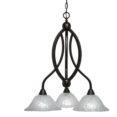 Eisenhauer 3-Light Black Copper Shaded Chandelier