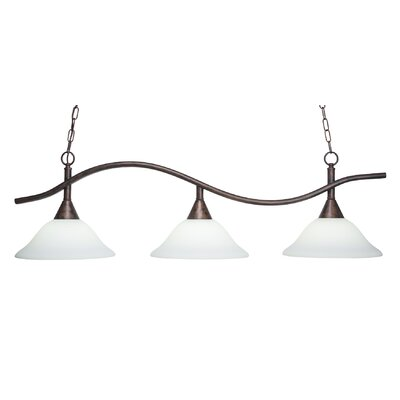 Swoop 3-Light Kitchen Island Pendant Shade Color: White
