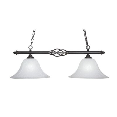Ellesmere 2-Light Kitchen Island Pendant Shade Color: White