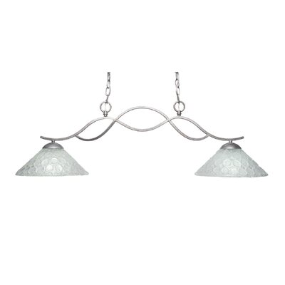Revo 2-Light Kitchen Island Pendant Finish: Aged Silver