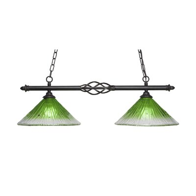 Elegant� 2-Light Kitchen Island Pendant Shade Color: Kiwi Green