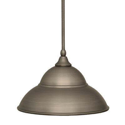 Stem 1-Light Mini Pendant Finish: Brushed Nickel, Size: 8.5 H x 13 W