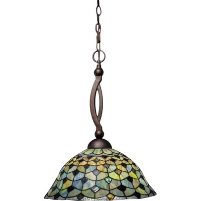 Austinburg 1-Light Bowl Pendant Base Finish: Bronze