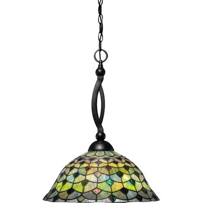 Bow 1-Light Bowl Pendant Base Finish: Matte Black 271-MB-996