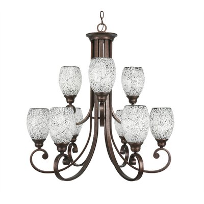 Babin 9-Light Shaded Chandelier Shade Color: Black