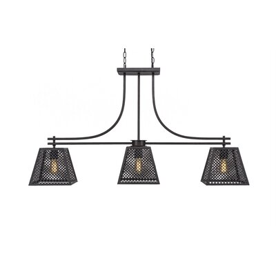 Giusto 3-Light Kitchen Island Pendant Finish: Dark Granite