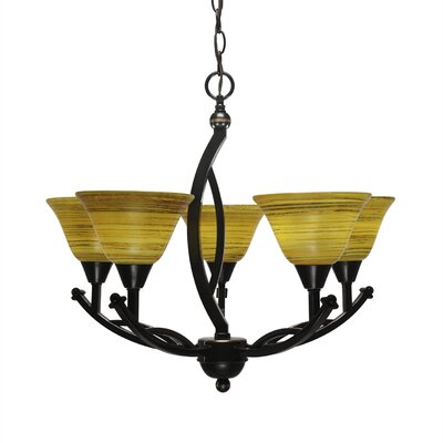 Blankenship 5-Light 60W Dimmable Shaded Chandelier