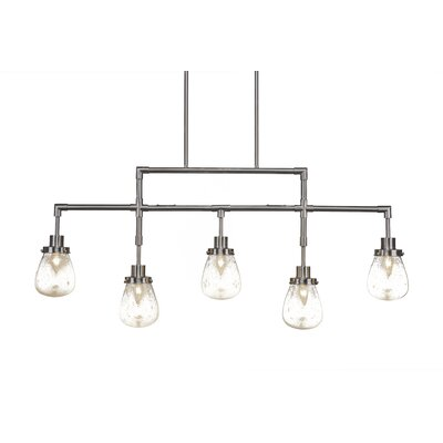 Meridian 5-Light Kitchen Island Pendant Finish: Brushed Nickel
