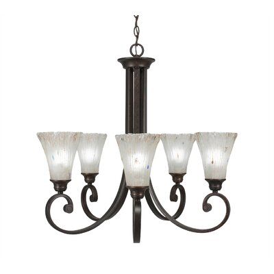 Babin 5-Light Shaded Chandelier Shade Color: Frosted