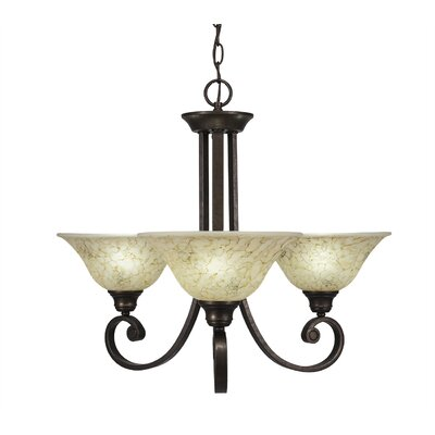Babin 3-Light Shaded Chandelier Shade Color: Italian
