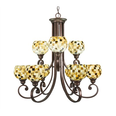 Babin 9-Light Shaded Chandelier Shade Color: Sea Mist