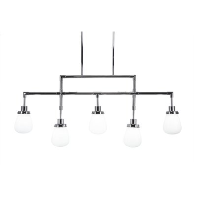 Meridian 5-Light Kitchen Island Pendant Finish: Chrome