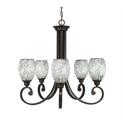 Babin 5-Light Shaded Chandelier Shade Color: Black